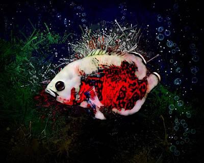Animals Digital Art - Red Tiger Oscar by Scott Wallace Digital Designs