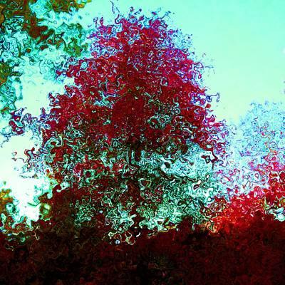 Mixed Media - Red tree by Lenka Rottova