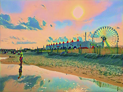 Surrealism Royalty-Free and Rights-Managed Images - Reflecting on Summer by Surreal Jersey Shore