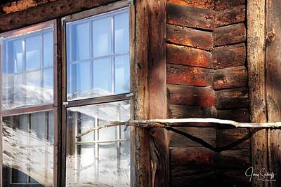Jerry Sodorff Royalty-Free and Rights-Managed Images - Reflections From Moraine Flats Cabin DS by Jerry Sodorff