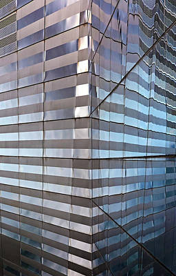 Vintage Automobiles - Reflections in Glass Window - Lower Manhattan Architecture by Robert Ullmann