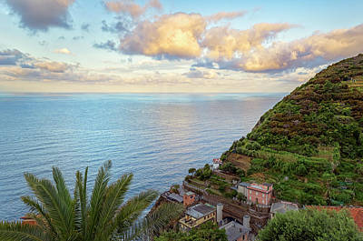 Car Photos Douglas Pittman - Reflections of Cinque Terre Italy by Joan Carroll