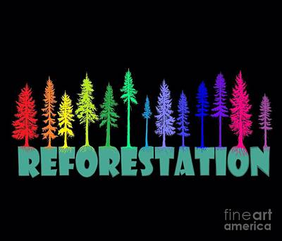 Featured Tapestry Designs - Reforestation Rainbow by Nick Gustafson