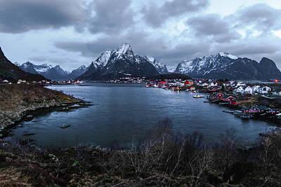 American Milestones - Reine Norway Overlook by Norma Brandsberg