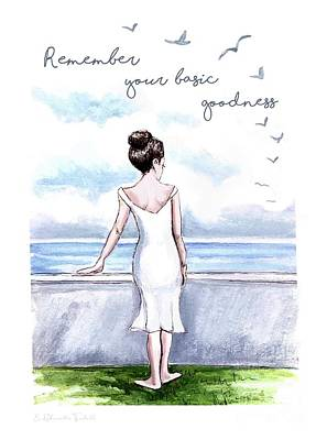 Celebrity Watercolors - Remember Your Basic Goodness by Elizabeth Robinette Tyndall