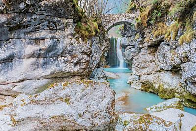 Soap Suds - Repepeit waterfall. Small treasure chest in the Val Raccolana. Friuli. Italy by Nicola Simeoni