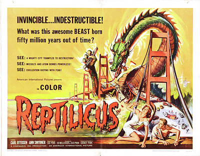 Personalized Name License Plates - Reptilicus, 1961 by Stars on Art