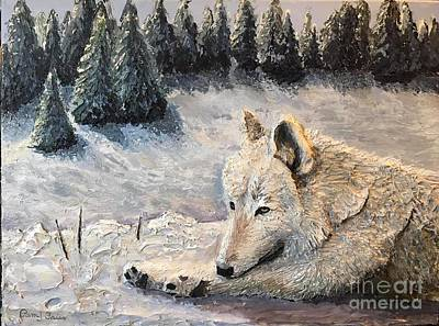 Painting - Resting in the Snow by Pam Fries