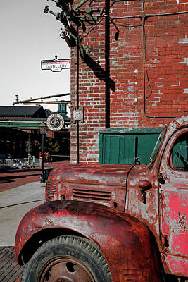 Photograph - Retro And Grunge Street Scene Photography by Farzad Frames