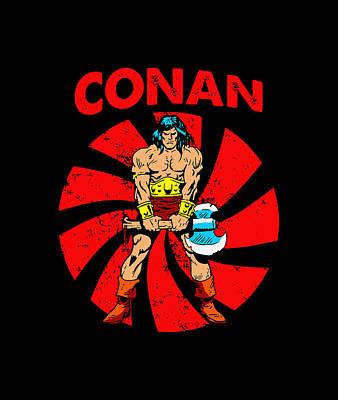 Target Threshold Nature Royalty Free Images - Retro Conan The Barbarian Royalty-Free Image by Alaida Dina