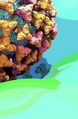 Digital Art - RETRO VIRION Artwork by Russell Kightley