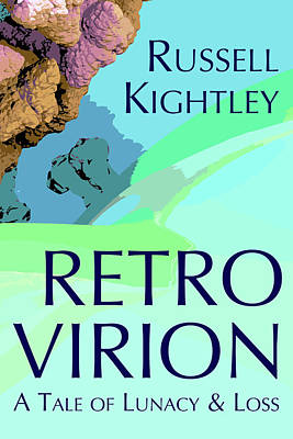 Digital Art - Retro Virion Book Cover by Russell Kightley