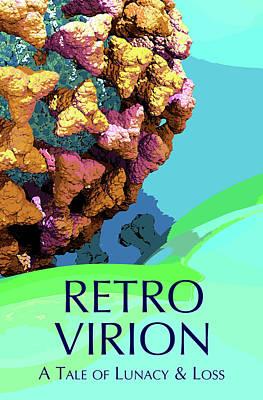 Digital Art - RETRO VIRION Book Poster by Russell Kightley