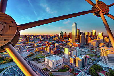 Royalty-Free and Rights-Managed Images - Reunion Tower View of Dallas at Sunset by Gregory Ballos