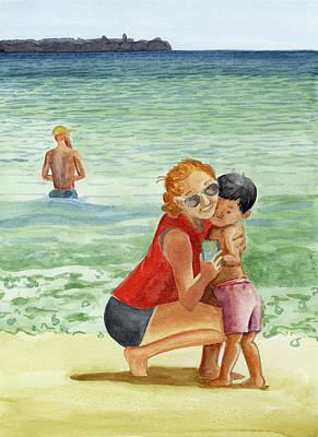 Painting - Revere Beach 2020 by Laura Dozor