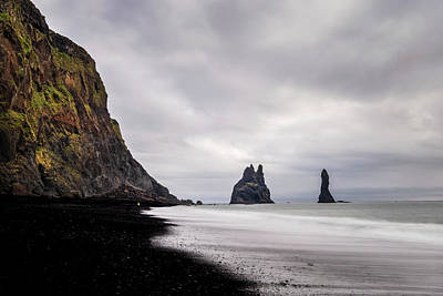 Royalty-Free and Rights-Managed Images - Reynisfjara black sand beach in Iceland by Alexios Ntounas