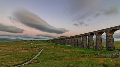 David Bowie - Ribblehead Viaduct and lenticular clouds by Paul Madden