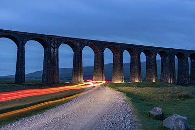 David Bowie - Ribblehead Viaduct light trails by Paul Madden