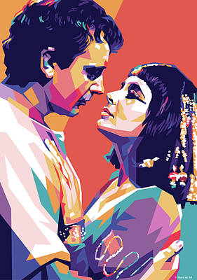 Royalty-Free and Rights-Managed Images - Richard Burton and Elizabeth Taylor 1963 by Stars on Art