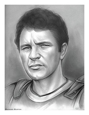 Drawings Royalty Free Images - Richard Burton - Pencil Royalty-Free Image by Greg Joens