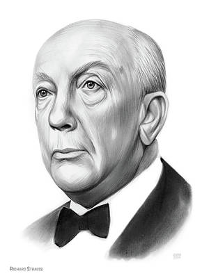 Drawings Royalty Free Images - Richard Strauss - Pencil Royalty-Free Image by Greg Joens