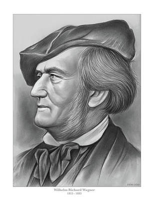 Drawings Royalty Free Images - Richard Wagner - Pencil Royalty-Free Image by Greg Joens
