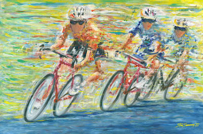 Painting - Richmond Pro Bike Race by Stan Sweeney