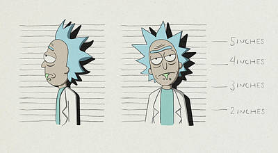 Royalty-Free and Rights-Managed Images - Rick Sanchez mugshot  by Samuel Whitton