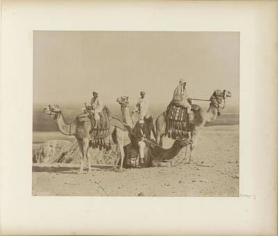 Music Figurative Potraits - Riders on camels in an Egyptian desert by Artistic Panda