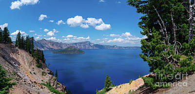 Royalty-Free and Rights-Managed Images - Rim Drive, Crater Lake by Michael Ver Sprill