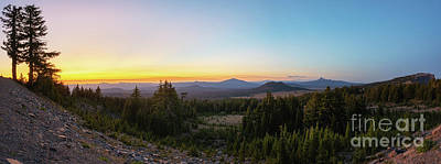Fantasy Royalty-Free and Rights-Managed Images - Rim Drive Sunset Panorama by Michael Ver Sprill