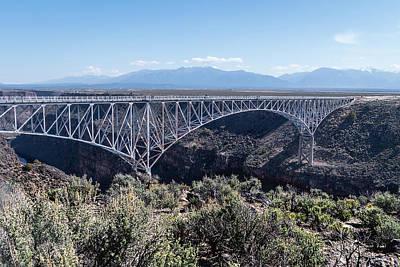 Purely Purple - Rio Grande Gorge Bridge Near Taos New Mexico by Debra Martz