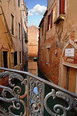 Keith Richards - Rio Malatin Canal Venice by Kathy Yates