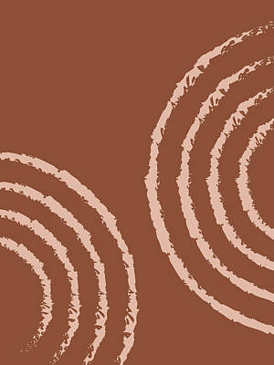 Royalty-Free and Rights-Managed Images - Ripples 01 - Modern, Minimal, Contemporary Abstract Art - Brown by Studio Grafiikka