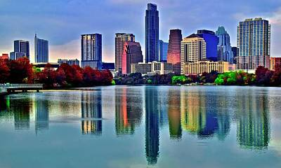 Personalized Name License Plates - Ripples and Reflection in Austin by Frozen in Time Fine Art Photography
