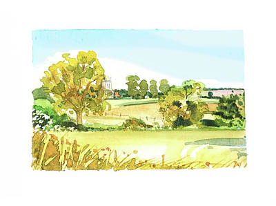 Target Threshold Watercolor - Riseley Church #2 by Luisa Millicent