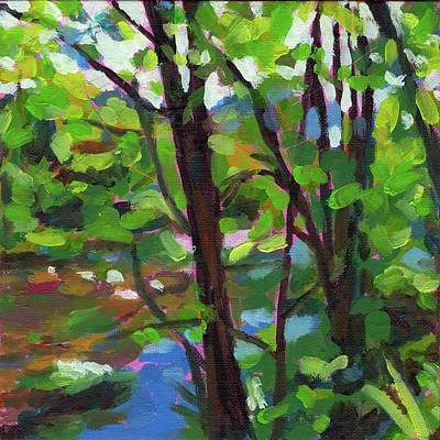 Painting - River Bank In Weisenbach by Nimrod Stark