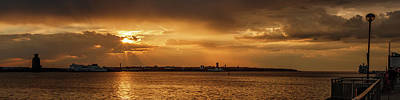 Photograph - River Mersey Sunset by Paul Madden