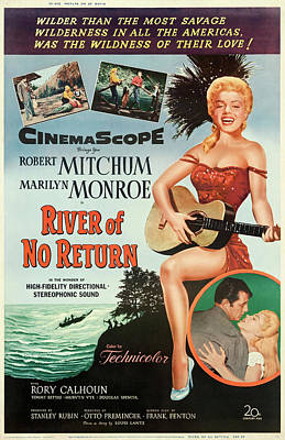 Halloween Movies - River of No Return 1954 by Stars on Art