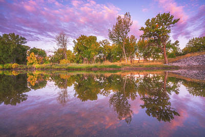 Royalty-Free and Rights-Managed Images - Riverbank Sunrise by Darren White