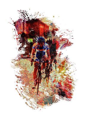 Sports Royalty-Free and Rights-Managed Images - Road Cycle Race by All Sport Art