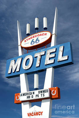 Photograph - Road Sign, Historic Route 66 by Henk Meijer Photography
