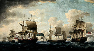 Clouds - Robert Cleveley 1747 1809 Admiral Rodneys by Artistic Rifki