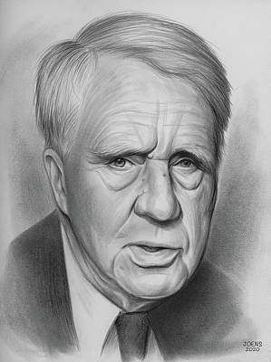 Drawings Royalty Free Images - Robert Frost - Pencil Royalty-Free Image by Greg Joens
