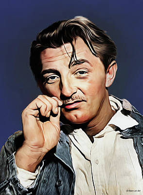 Royalty-Free and Rights-Managed Images - Robert Mitchum illustration by Stars on Art