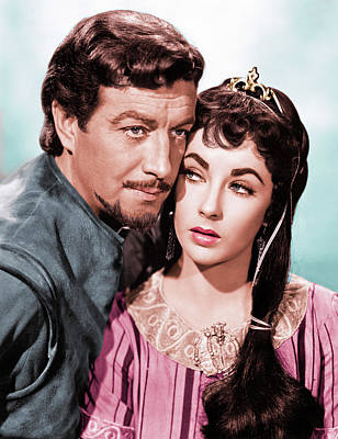 Royalty-Free and Rights-Managed Images - Robert Taylor and Elizabeth Taylor by Stars on Art