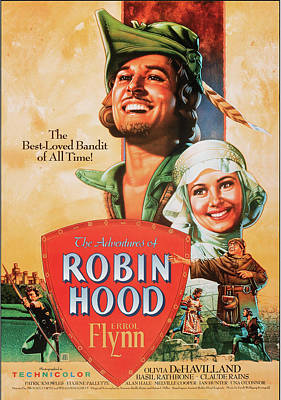 Royalty-Free and Rights-Managed Images - Robin Hood 1938 by Stars on Art