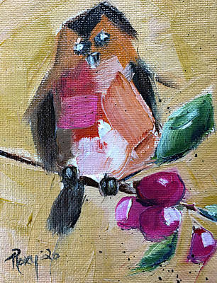 Ps I Love You - Robin on a Berry Branch by Roxy Rich
