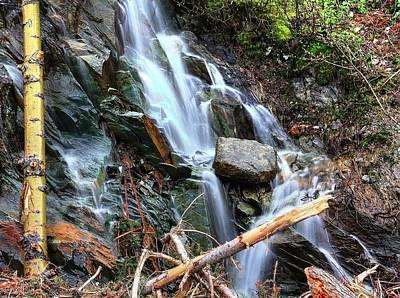 Photograph - Rockies Waterfall by David Matthews