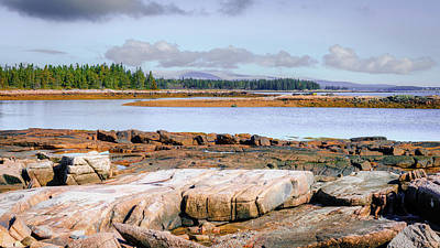 Old Masters Royalty Free Images - Rocky coast of Acadia Royalty-Free Image by Alexey Stiop